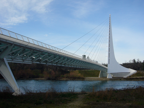 A picture of the Sundial Bridge in Redding CA